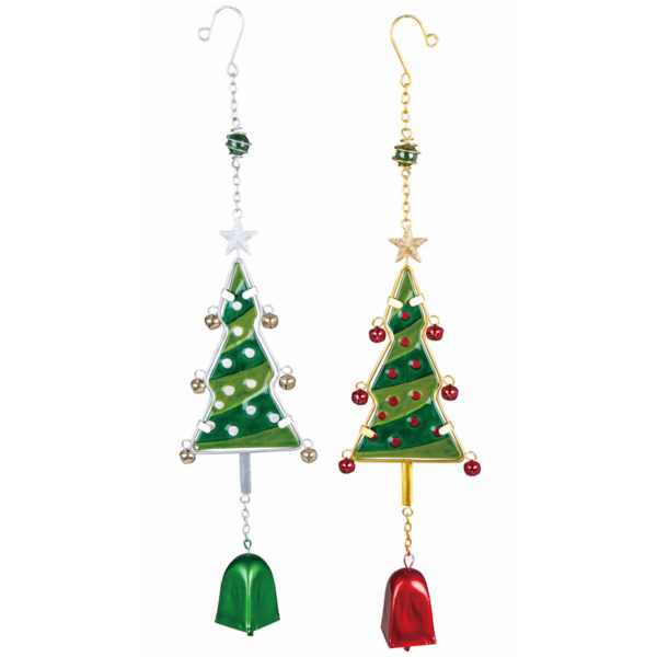 Metal and Glass Tree Wind Chimes