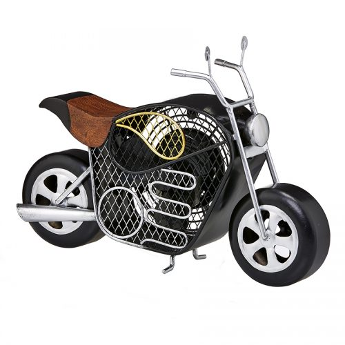 Decorative electric motorcycle fan.