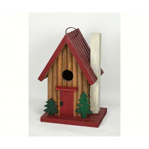 Mountain Cabin Shaped Birdhouse