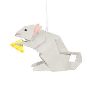 Mouse Origami Ornament