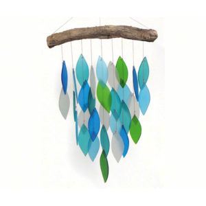 Blue, Green and White Ocean Waterfall Chime