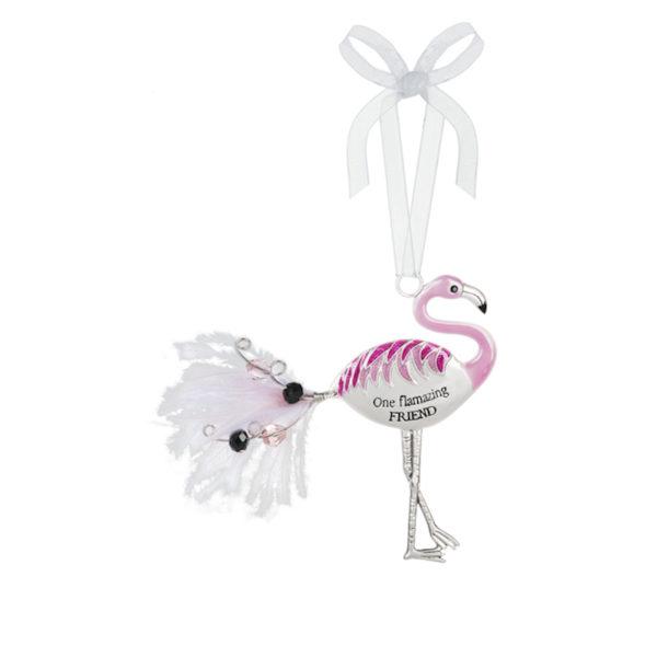 One flamazing Friend Flamingo Ornament