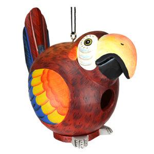 Parrot Shaped Birdhouse