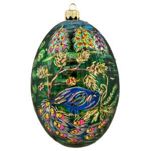 Peacock Egg Shaped Ornament