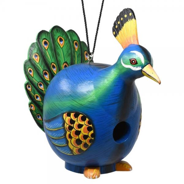 Peacock Shaped Birdhousev