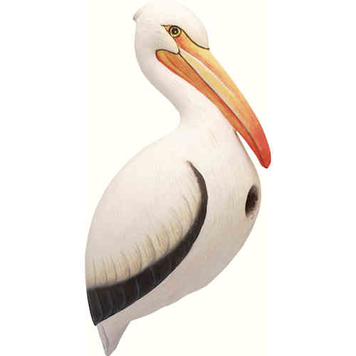 White Pelican Shaped Birdhouse