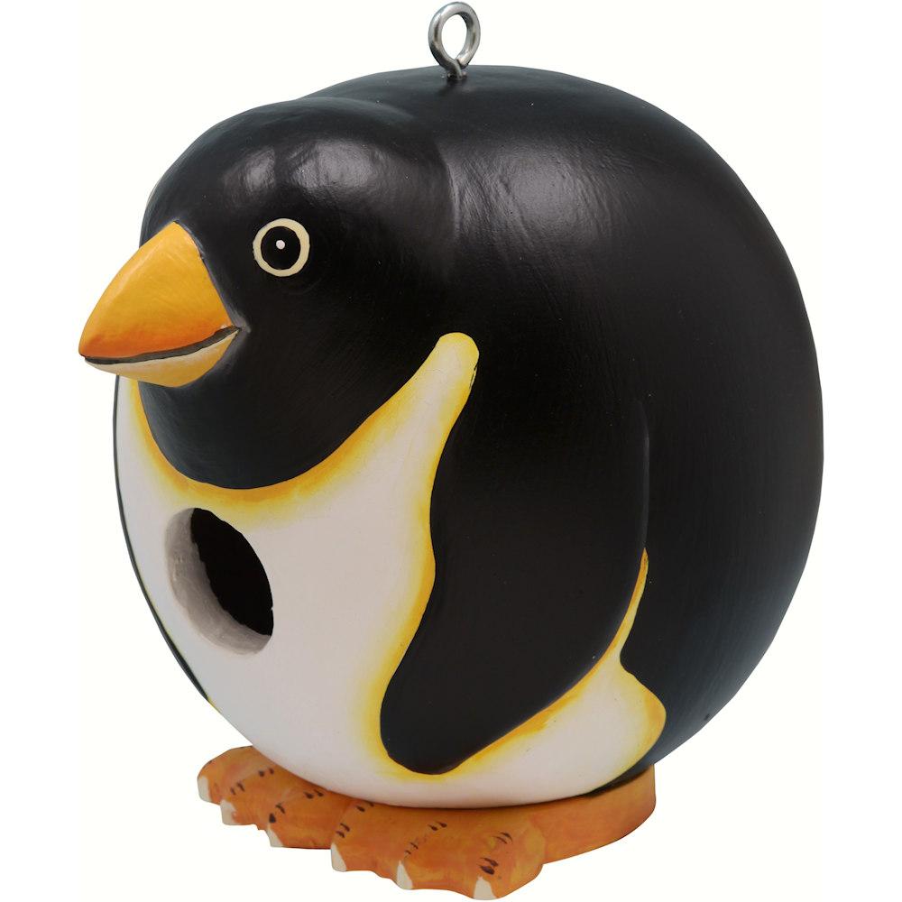 Penguin Shaped Birdhouse Happy Holidayware