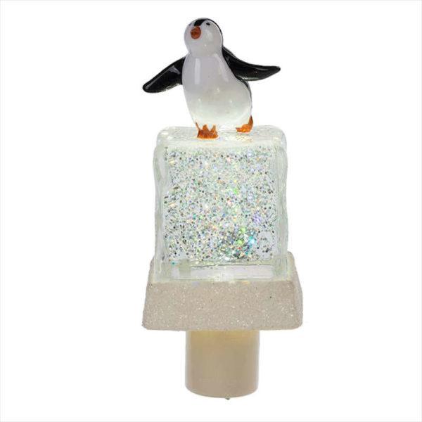 Penguin on Ice Cube Shimmer Night Light