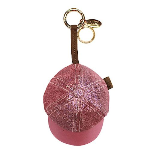 Pink Champagne Hat Coin Purse Keychain