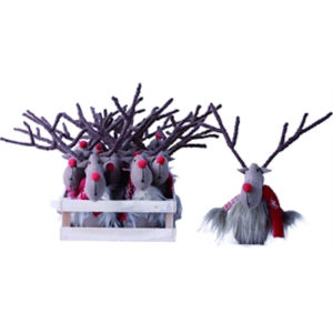 Plush Reindeer Ornament