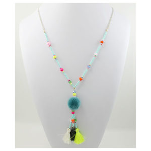 Pompom and Tassels Necklace
