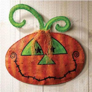 Pumpkin Halloween Door Decoration