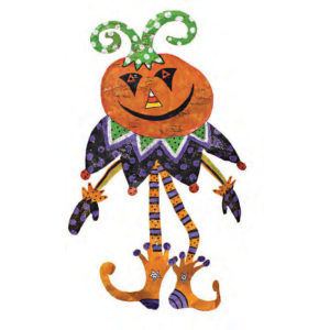 Pumpkin Joker Halloween Door Decoration