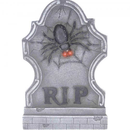 RIP Light Up Spider Tombstone