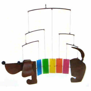 Rainbow Dachshund Hanging Mobile