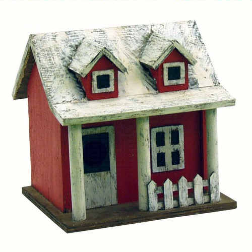 House with Picket Fence Birdhouse