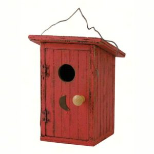 Red Outhouse Birdhouse