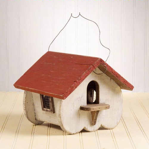 Red Roof Birdhouse