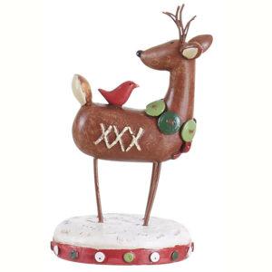 Standing Reindeer Figurine