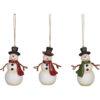 Resin Snowmen Ornaments