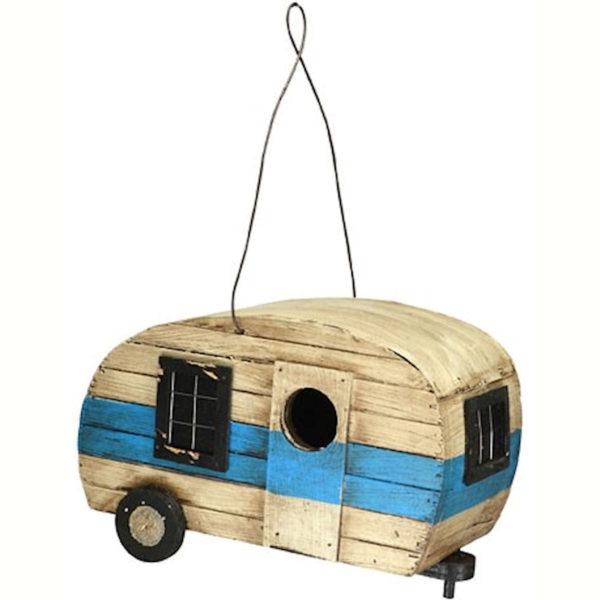 Retro Camper Shaped Birdhouse