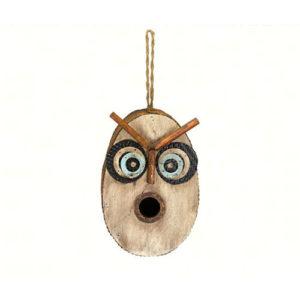 Retro Owl Shaped Birdhouse