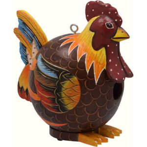 Rooster Shaped Birdhouse