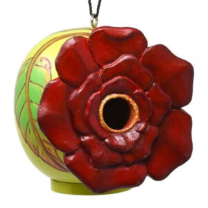 Rose Flower Shaped Birdhouse