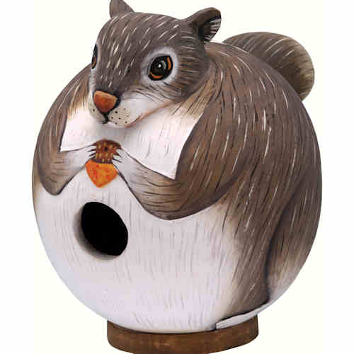 Gourd Squirrel Shaped Birdhouse