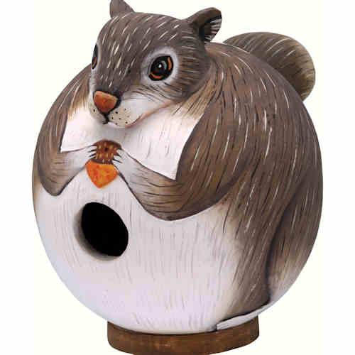 Gourd Squirrel Shaped Birdhouse