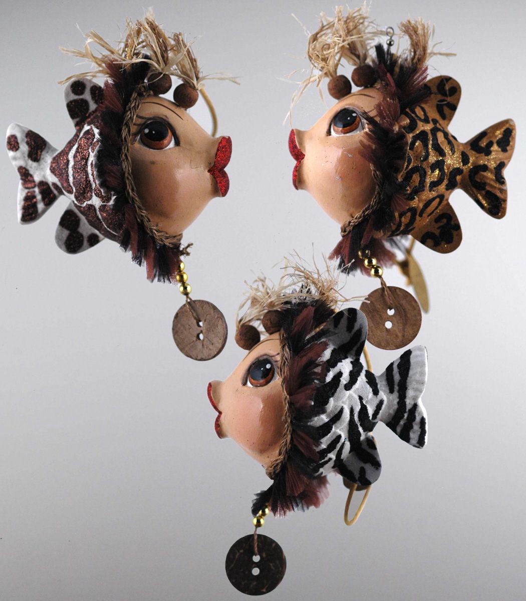Kissing fish ornament - Safari Kissing Fish Ornament