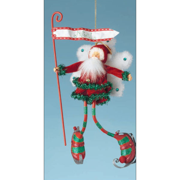 Santa Flurrie Christmas Ornament