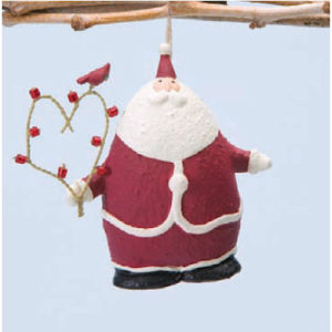Santa's Heart Christmas Ornament