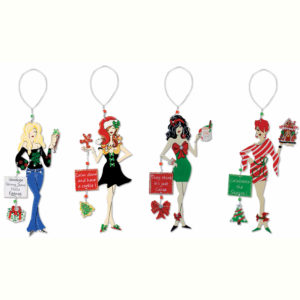 Santa's Sweeties Christmas Ornaments
