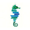 Green and blue Seahorse Suncatcher