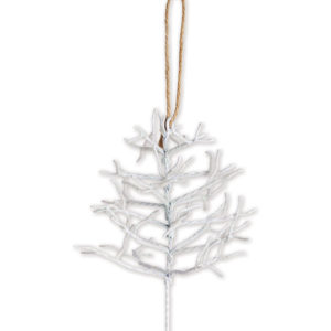 Silver Metal Tree Ornament