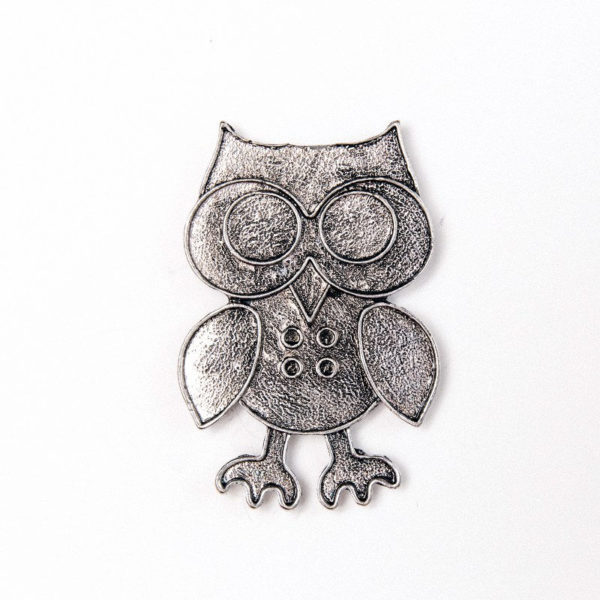 Silver Owl Magnetic Purse Charm