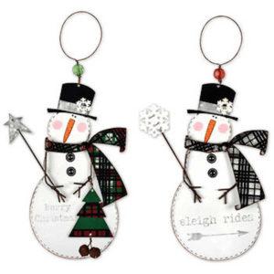 Sleigh Rides Snowman Ornaments