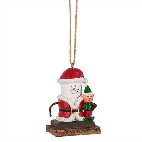 S'mores Santa Ornament