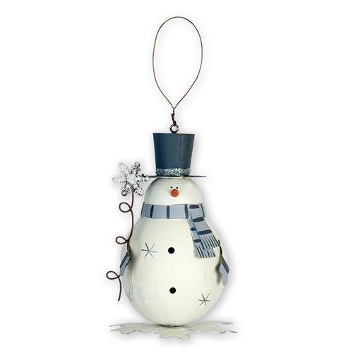 Snowflake Frosty Snowman Ornament
