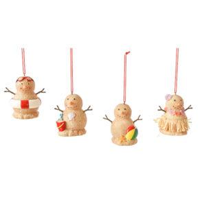 Snowman Beach Sand Ornaments