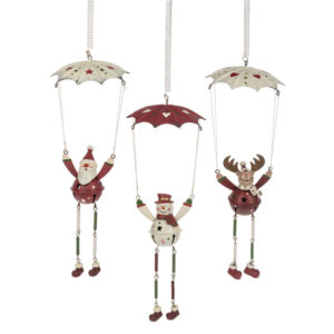 Snowman, Reindeer or Santa on Spring Ornament