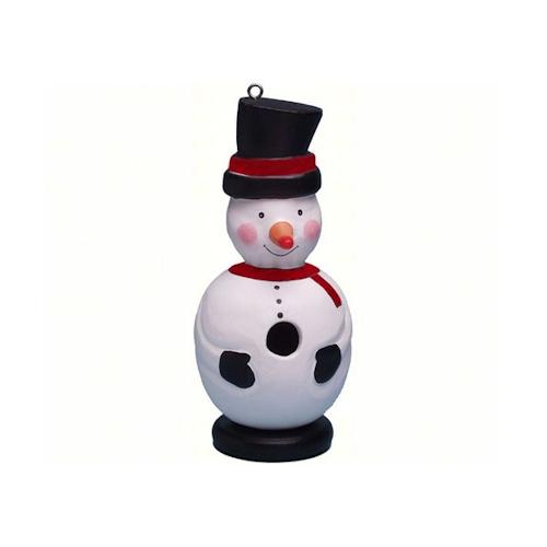 Snowman Shaped Birdhouse