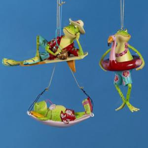 Summertime Frogs Ornament