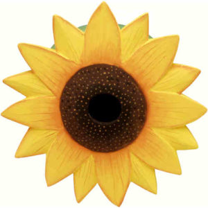 Sunflower Shaped Birdhouse