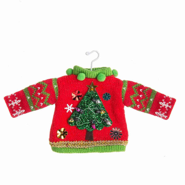Tree Ugly Sweater Ornament