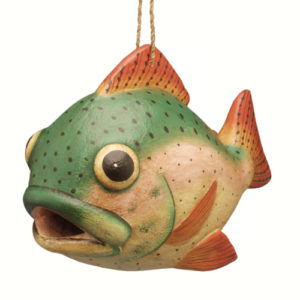 Trout Shaped Birdhouse