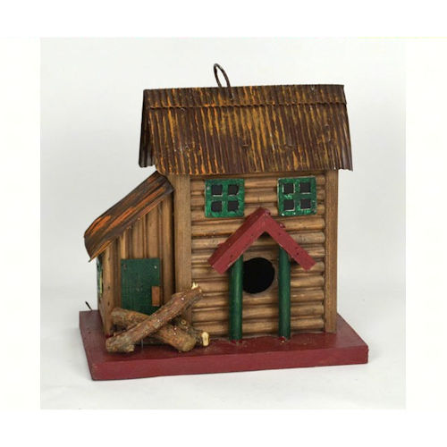 Two Story Log Cabin Birdhouse