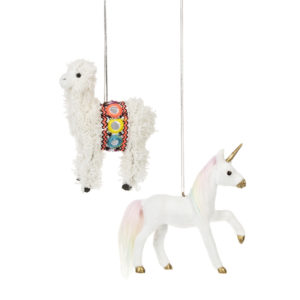Unicorn or Llama Ornament