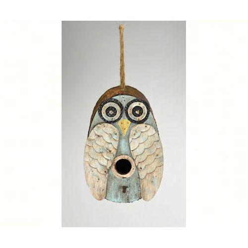 Unique Blue Owl Birdhouse